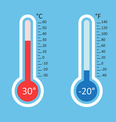 Thermometers icon goal flat isolated on blue vector