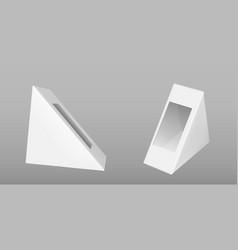 triangle cardboard box for sandwich vector image