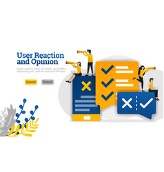 User reaction and conversation opinion with apps vector