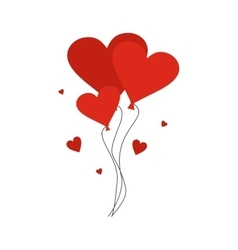 Valentine day balloons flat vector image