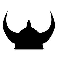 Viking helmet icon black color vector