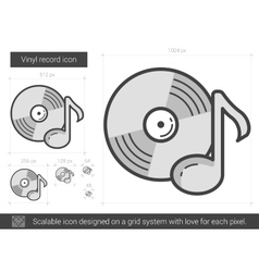 Vinyl record line icon vector image