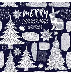 winter holiday card vector image