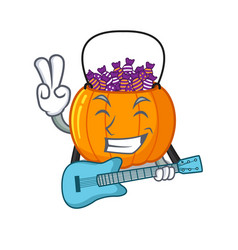 With guitar candy bucket on with character vector