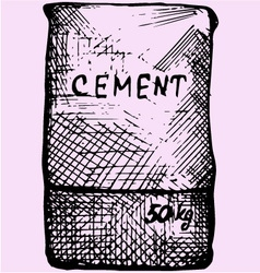 Cement bag paper sacks vector image