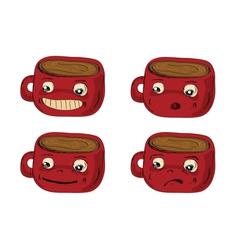 mugs hand drawn vector image vector image