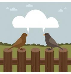 talking birds vector image