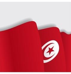 Tunisian waving flag vector