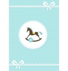 baby greeting card - boy vector image