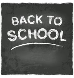 back to school chalkboard blackboard vector image
