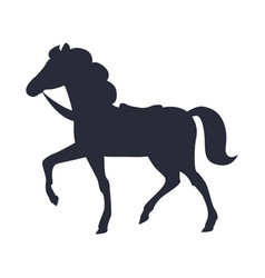cartoon horse isolated white vector image vector image