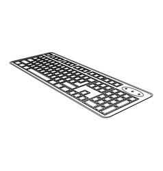 figure computer keyboard icon vector image vector image