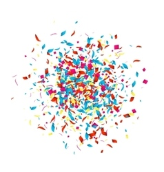 Holiday Confetti background for holidays party vector image