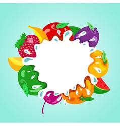 Assorted fruit splash element vector