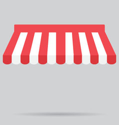 Canopy awning striped store element design vector image vector image