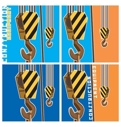 construction equipment vector image vector image