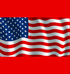 flag of usa american national symbol vector image vector image