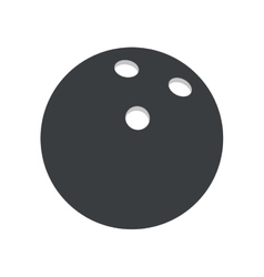 pictogram bowlling ball sport vector image