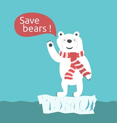 Save polar bears vector image vector image