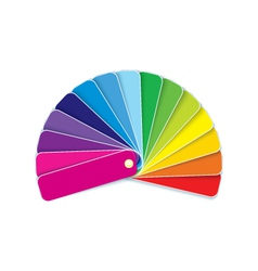 Swatches in rainbow vector image vector image