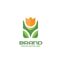 flower logo concept vector image vector image