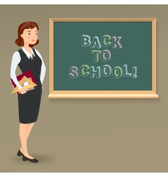 message on blackboard and teacher vector image vector image