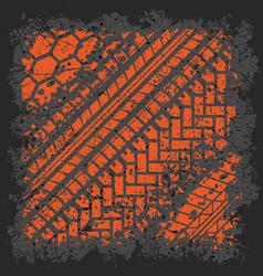 orange tire track vector image vector image