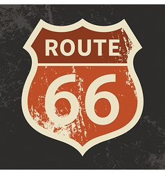 Route 66 sign vector image