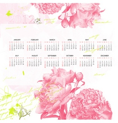 stylized calendar for 2012 vector image vector image