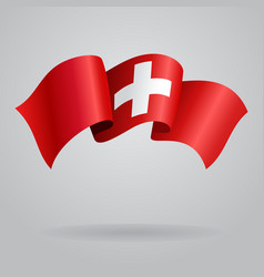Swiss waving Flag vector image vector image