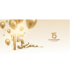 15th anniversary celebration background vector