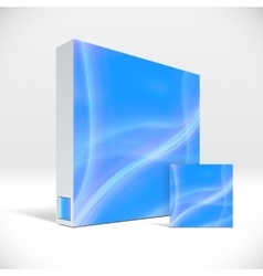 3D Identity box with abstract blue lines cover vector image