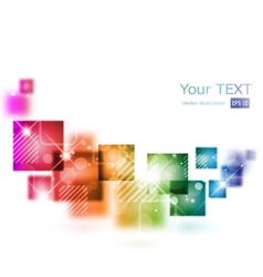 Abstract background with square shapes vector image