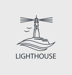 abstract lighthouse line icon vector image