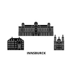 austria innsburck flat travel skyline set vector image
