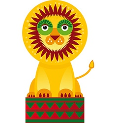 Big lion in the circuson a white background vector image