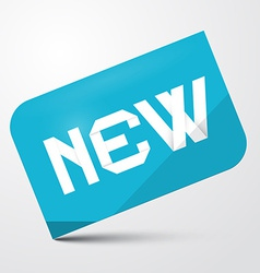 Blue Paper Sticker - Label with New Title vector