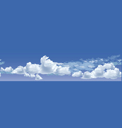 blue sky with running clouds vector image