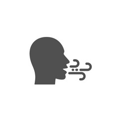 Breathing icon breath difficulties sign vector