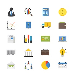 Business and Finance Money Flat Icons color vector image vector image