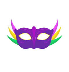 Carnival mask icon flat cartoon style vector