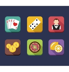Casino game of fortune gambling roulette slot vector
