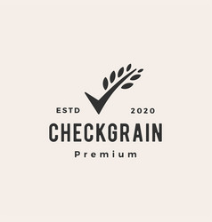 check grain hipster vintage logo icon vector image