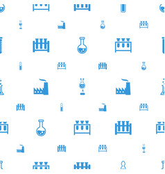 Chemical icons pattern seamless white background vector