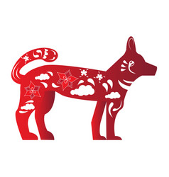 chinese new year dog silhouette vector image