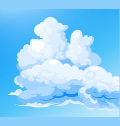 Cloudy sky blue background vector