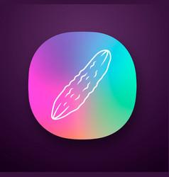 Cucumber color app icon vector