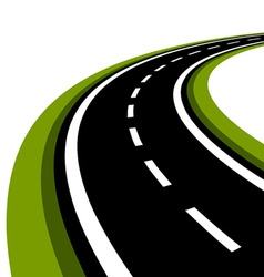 Curved asphalt road vector