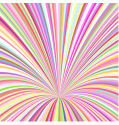 curved ray background - graphic from striped rays vector image