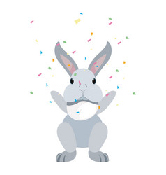 Cute rabbit animal vector